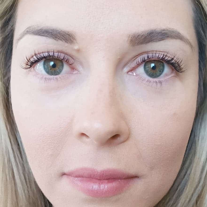 Classic lashes after