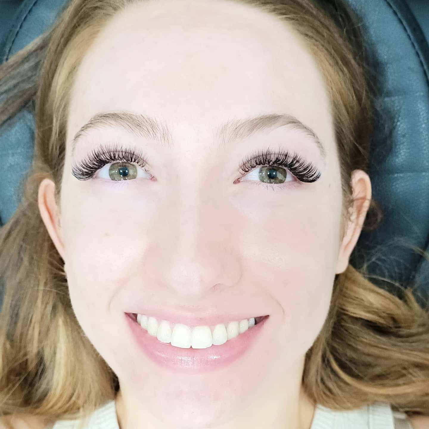 Volume lashes After photo